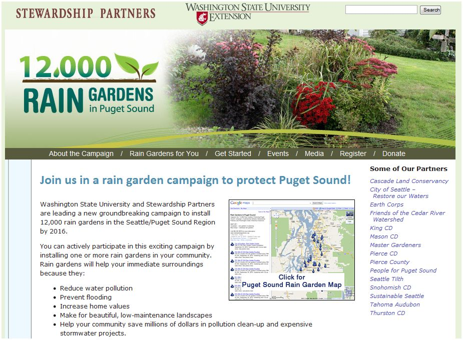 12000 Rain Gardens in Puget Sound
